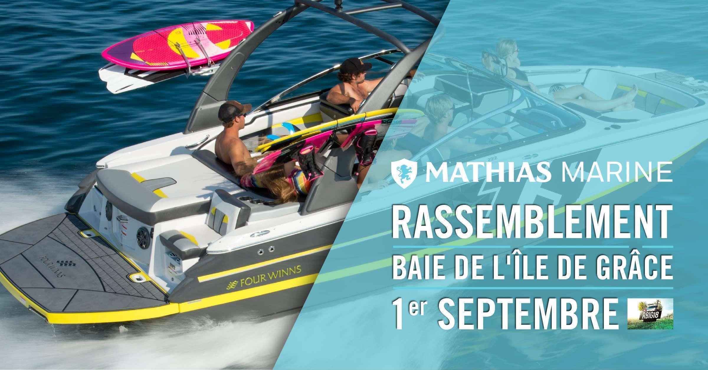 Le 1er septembre, venez nombreux au rassemblement nautique, Baie de l'île de Grâce!