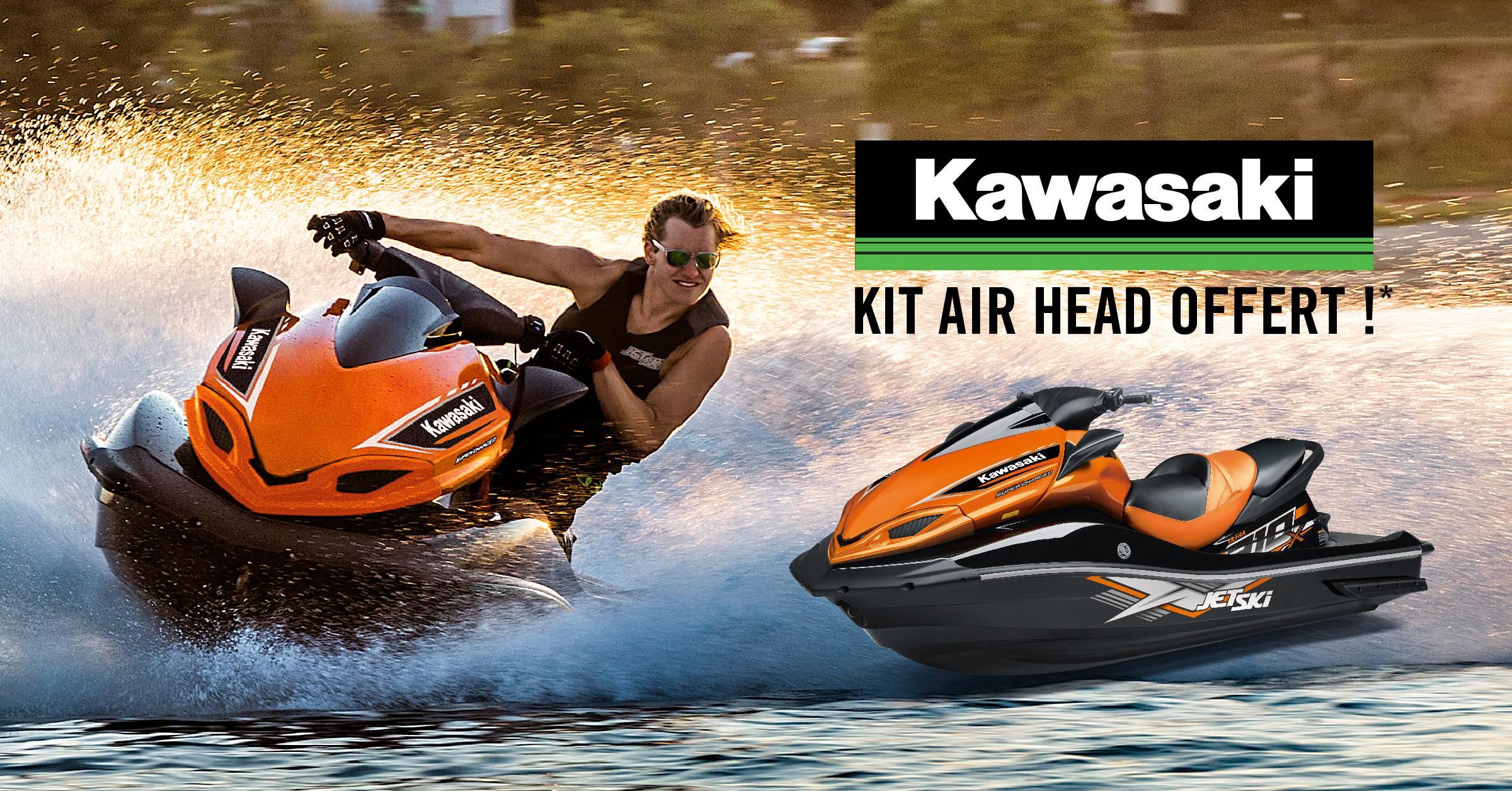 Kit Air Head et corde offerts pour tout achat d'un Jet Ski Kawasaki !